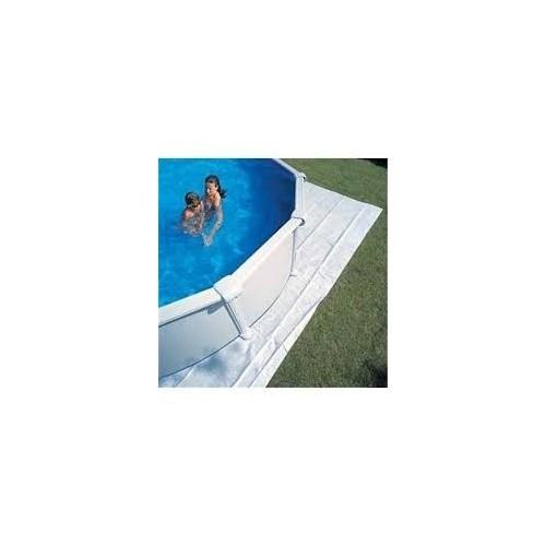 Manta protectora de 250 x 250 cm para piscina máx. Ø 240