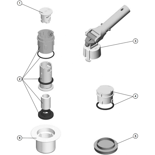 RECAMBIOS BOQUILLA NET'N'CLEAN, RECAMBIOS BOQUILLA NET'N'CLEAN: (1) 4402044506 - CONJ. TAPON SALIDA