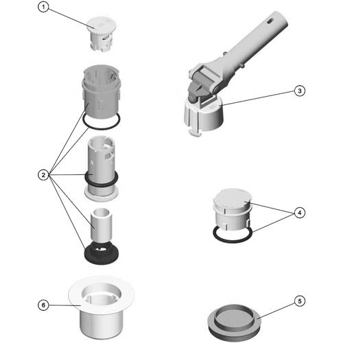 RECAMBIOS BOQUILLA NET'N'CLEAN, RECAMBIOS BOQUILLA NET'N'CLEAN: (4) 4402044507 - CONJ. TAPA INVERNAJE