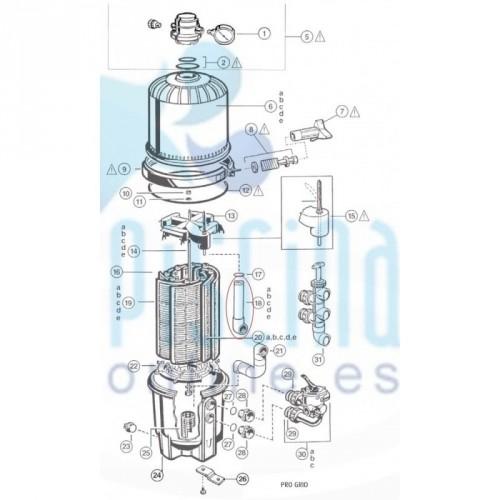 Monobloc Ø500 mm 8.000 l/h Astralpool