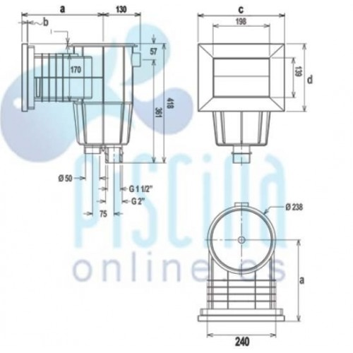 Escalera Modelo Standart AstralPool