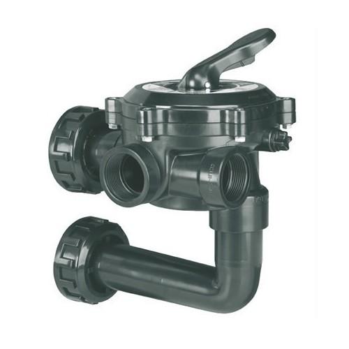 """Válvula selectora lateral 11/2"""" con enlace a filtro - Flat"""