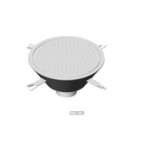 Cajón redondo de masaje por aire de acero inoxidable Flexinox, Cajón redondo de masaje : 87188021 - D.500 mm.