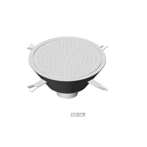 Cajón redondo de masaje por aire de acero inoxidable Flexinox, Cajón redondo de masaje : 87188022 - D.700 mm.