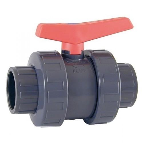 Válvula de bola Cepex Standard PN16 PVC-U PE-EPDM encolar D. 75 mm