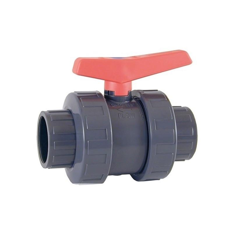 Válvula de bola Cepex Standard PN16 PVC-U PE-EPDM encolar D. 90 mm
