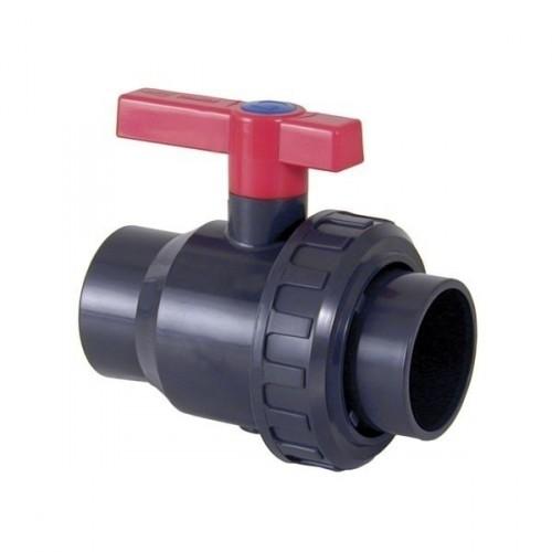 Válvula de bola Uniblock PVC PE-EPDM encolar D. 75 mm