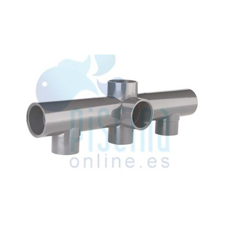 Colector para batería de válvulas de PVC D. 50 mm