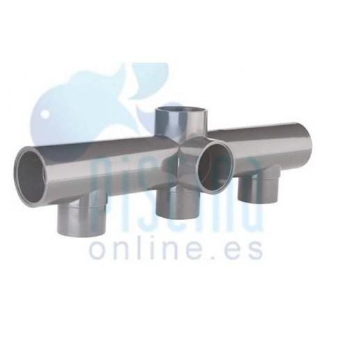 Colector para batería de válvulas de PVC D. 63 mm
