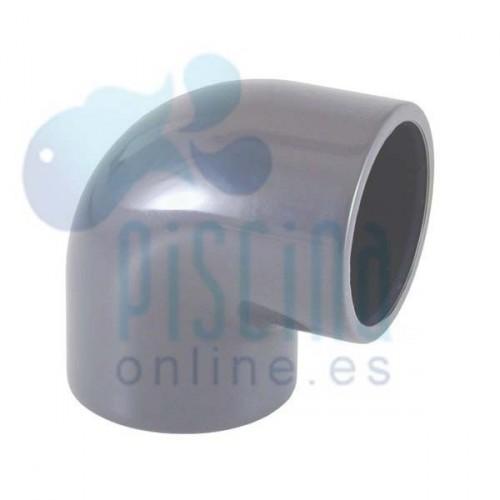 Codo 90º de PVC para encolar D.  20 mm