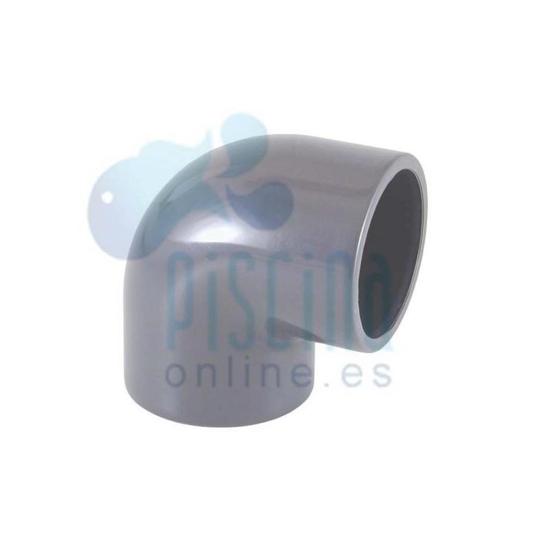 Codo 90º de PVC para encolar D.  25 mm