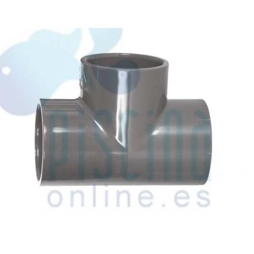 Te de 90º de PVC encolar: D.  75 mm. - 01786