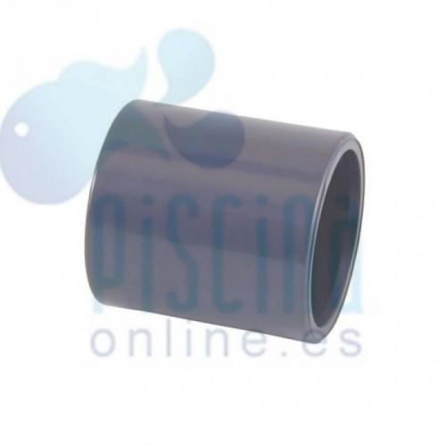 Manguito unión PVC encolar D.  63 mm. - 01877